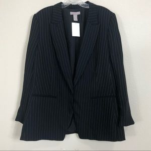 H&M Black Pinstriped Blazer NWT